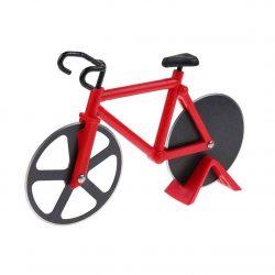 cortador de pizza con forma de bicicleta