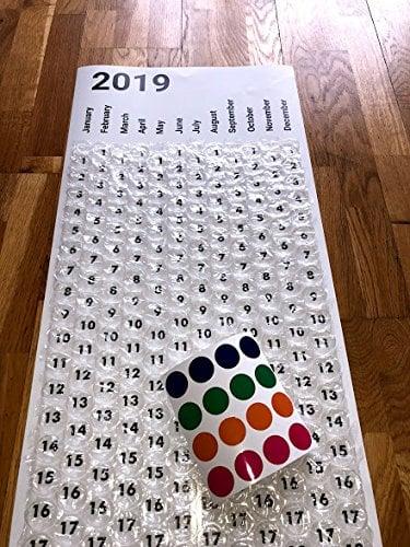 Calendario Burbujas