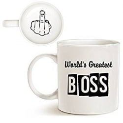 Taza para jefe con mensaje