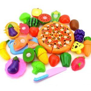 juguete frutas verduras pizza