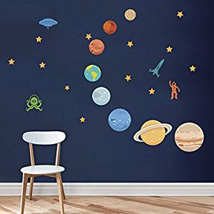 pegatinas sistema solar